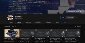 Sentdex Best Artificial Intelligence in 2020 YouTube Channel