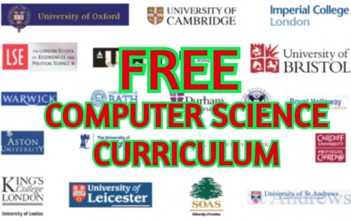 FREE Computer Science Curriculum From The Best Universities and Companies In The World